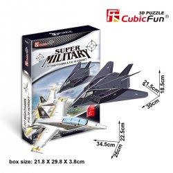 Puzzle 3D MYŚLIWIEC F117 / MYŚLIWIEC FA18