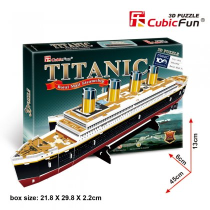 Puzzle 3D STATEK TITANIC mały
