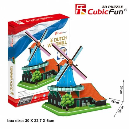 Puzzle 3D WIATRAK HOLENDERSKI