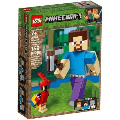 LEGO 21148 Minecraft BigFig - Steve z papugą