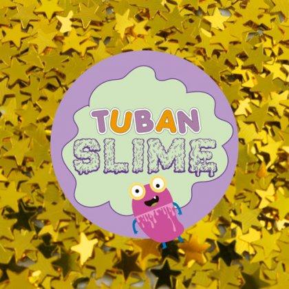 TUBAN - Brokat złote gwiazdki do slime
