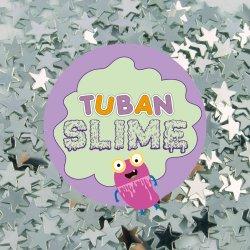 TUBAN - Brokat srebrne gwiazdki do slime