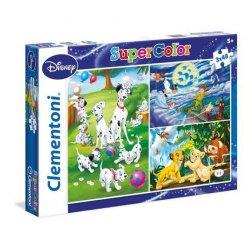 Puzzle 3w1 - 3x48 el. Disney Classic SuperColor