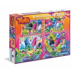 Puzzle 4w1 20, 60, 100 i 180 el. Trolls