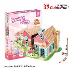 Puzzle 3D Domek dla Lalek SWEET VILLA