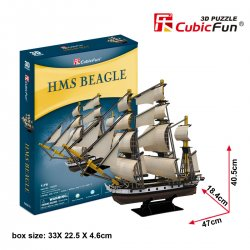Puzzle 3D Żaglowiec HMS BEAGLE