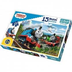 Puzzle MAXI 15 el. Tomek i Przyjaciele Pędzące lokomotywy