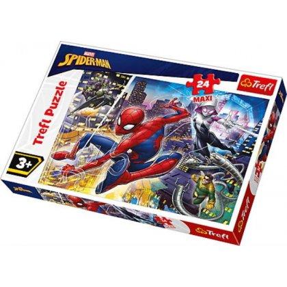 Puzzle MAXI 24 el. Nieustraszony Spider-Man
