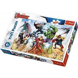 Puzzle 160 el. Gotowi by ratować świat - Avengers