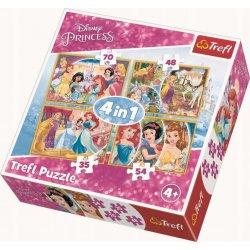 Puzzle 4w1 Radosny dzień księżniczek
