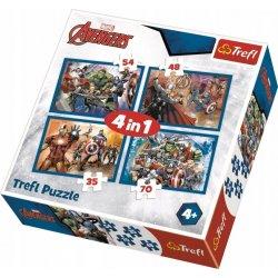 Puzzle 4w1 Nieustraszeni Avengersi