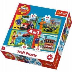 Puzzle 4w1 Strażak Sam na ratunek