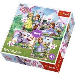 Puzzle 4w1 W świecie księżniczki Zosi