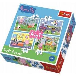 Puzzle 4w1 34316 Wspomnienia z wakacji - Świnka Peppa