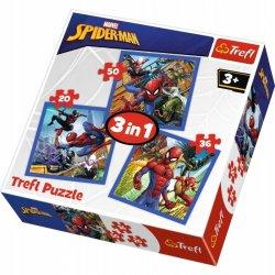 Puzzle 3w1 Pajęcza siła - Spider- Man