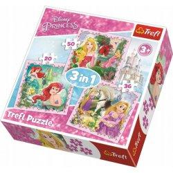 Puzzle 3w1 Roszpunka, Aurora i Ariel