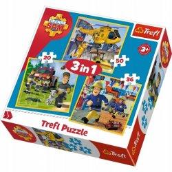 Puzzle 3w1 Strażak Sam w akcji