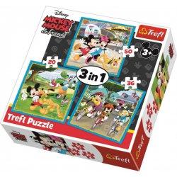 Puzzle 3w1 Myszka Miki
