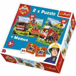 Puzzle 2w1 + Memory Strażak Sam