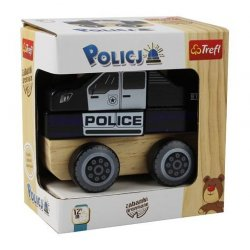 Drewniane autko - Policja