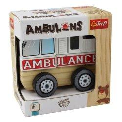 Drewniane autko - Ambulance