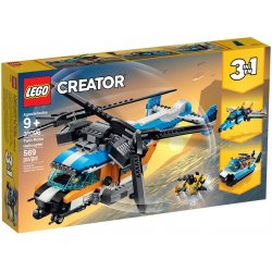 LEGO 31096 Build and rebuild a Twin Rotor Helicopter, Jet or Hovercraft with this LEGO® Creator 3in1 set!