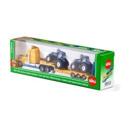 Siku Super: Seria 18 - Ciężarówka +2 traktory NEW HOLLAND 1805
