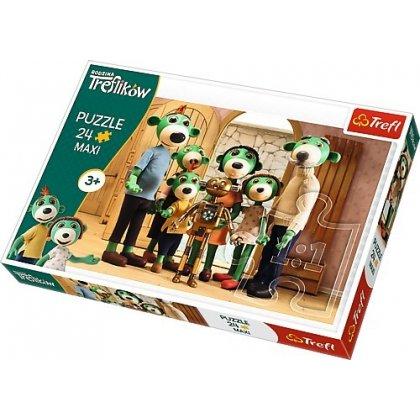 Puzzle Maxi 24 el. Rodzina Treflików: Portret rodzinny z Robobotem