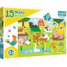 Puzzle Maxi 15 el. - Zwierzęta na wsi