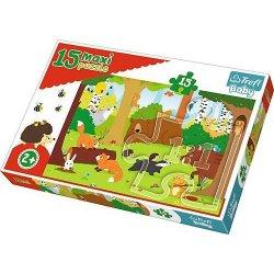 Puzzle Maxi 15 el. - Zwierzęta w lesie