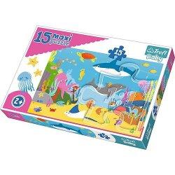 Puzzle Maxi 15 el. - Podwodny świat