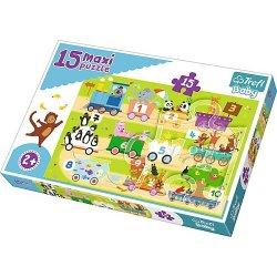 Puzzle Maxi 15 el. - Pociąg z cyferkami
