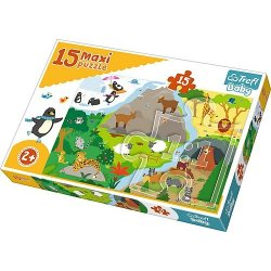 Puzzle Maxi 15 el. - Zwierzątka i ich domki