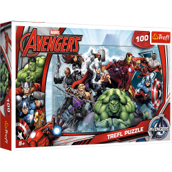 Puzzle 100 el. Avengers: Do Ataku
