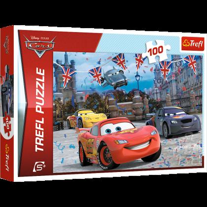 Puzzle 100 el. Auta 2: Wyścig w Londynie