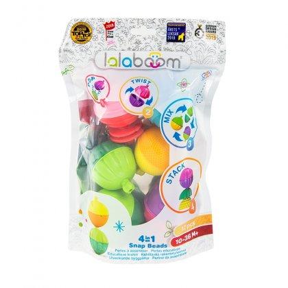 Kulko-klocki, zestaw sensoryczny, 12 elementów, Lalaboom 61077
