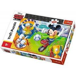 Puzzle 100 el. Myszka Miki na boisku