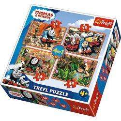 Puzzle 4w1 Tomek i przyjaciele: Podróże po świecie