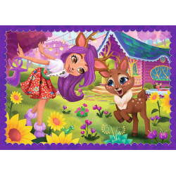 Puzzle 4w1 - Enchantimals: Zabawa z pupilami