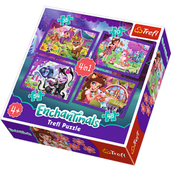 Puzzle 4w1 - Enchantimals: Zabawa z pupilami