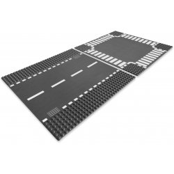 LEGO 7280 Płyta, Odcinek prosty i skrzyżowanie