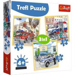 Puzzle 3w1 Pojzdy interwencyjne i zawody