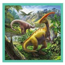 Puzzle 3w1 - Niezwykły świat dinozaurów