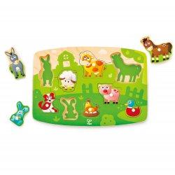 Drewniana układanka puzzle Farma 1408