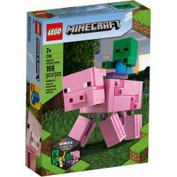 LEGO 21157 Minecraft BigFig — Świnka i mały zombie