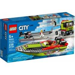 LEGO 60254 Transporter łodzi wyścigowej