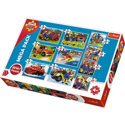 Puzzle 10w1 Strażak Sam Mega Pack