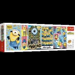 Puzzle 1000 el. Minionki Panorama