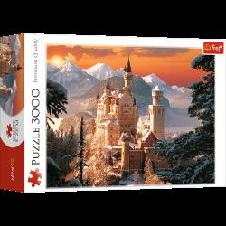 Puzzle 3000 el.Zimowy Zamek Neuschwanstein, Niemcy