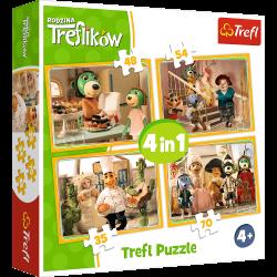 Puzzle 4w1 Przygotowania do balu Trefliki